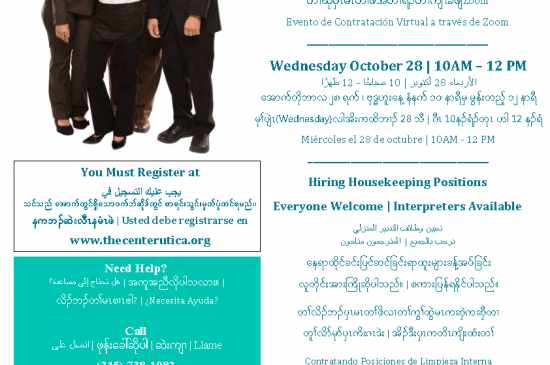 Multilingual TS Hiring Event Flyer