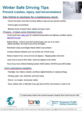 TS.English.Winter Safe Driving Tips.2020