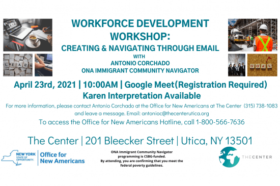Flyer Workforce Workshop Karen 4 23 21 email